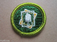 Stamp Collecting Merit Badge BSA Woven Cloth Patch Badge Boy Scouts Scouting