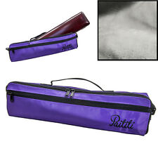 Paititi Brand New C Flute Hard Case Cover w Side Pocket/Handle/Strap Purpl Color