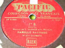 78 rpm- CAMILLE SAUVAGE-1 re B- The man I love- PACIFIC JF 6000-JAZZ FRANCAIS
