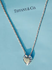 Tiffany & Co 18Ct 18K Gold Sterling Silver Heart Jigsaw Puzzle 18 Inch Necklace