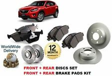 FOR MAZDA CX5 2.0 2.2 DT 2011-- ON FRONT & REAR BRAKE DISCS SET + DISC PADS KIT