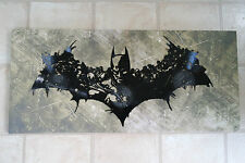 Unique art work made from 3 vinyl records, BATMAN LOGO DESIGN