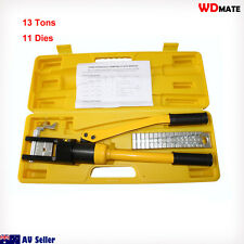 Hydraulic Crimper Press 13 Ton 16-300mm 11 Die Cable Force Crimping Pro 20021011