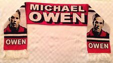 Michael Owen Football Scarf Liverpool Manchester United Newcastle Utd