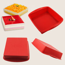 "BIG Square Cake Pan Bread Chocolate Pizza Baking Tray Silicone Mold (7.3""x1.6"")"