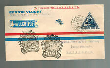 1937 Batavia Netherlands Indies 500th KLM Flight Airmail Cover to Rotterdam