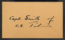 Capt Edward Smith Titanic Autograph Reprint On Original 1912 3X5 Card Shipwreck
