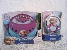 Disney Frozen Cool Tunes Sing Along Boombox AND Headphones with real Mic !  NIB