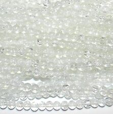GXL1295 10-Strands Crystal Clear 8mm Round Crackle Glass Bead 32""