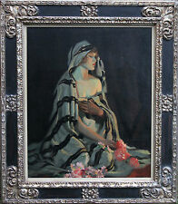 FREDERICK WILLIAM LEIST 1873-1945 AUSTRALIAN ART OIL PAINTING PORTRAIT WOMAN