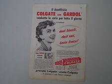 advertising Pubblicità 1958 DENTIFRICIO COLGATE