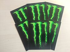 "6 X Monster Energy 4"" Pegatinas Calcomanía De Garra Verde 100% Original"