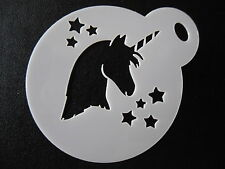 Laser cut small unicorn head stars design,cookie,craft & face painting stencil