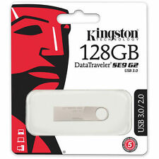 Kingston 128GB DataTraveler SE9 G2 Metal Pendrive 128 GB USB 3.0 Drive DTSE9G2