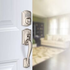 Schlage Camelot Electronic Keypad Handleset - Satin Nickel, FE285 Cam+ BE365 Cam