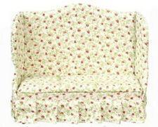 Floral Sofa settee dollhouse, furniture living room