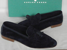 NEW Edward Green PORTLAND Navy Blue Suede Tassel Loafer Shoes UK 10 E RRP £405