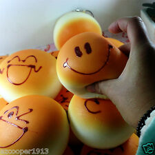 1 Pcs New Squishy Smile Buns Bread Charm Squishies Cell Phone Straps