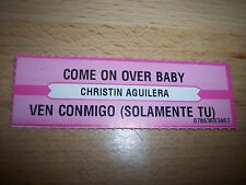 "1 Christina Aguilera Come On Over Baby Jukebox Title Strips CD 7"" 45RPM Records"