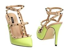 WOMENS LADIES CUT OUT T-BAR STUDDED POINTED TOE COURT SHOES SANDALS SIZE 3-8