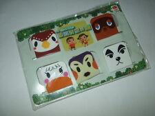 Animal Crossing 5 Magnet Clips Set Club Nintendo Limited Japan import NEW
