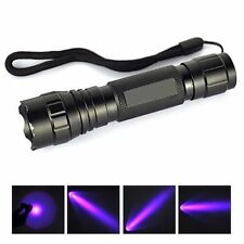UV WF-501B LED 365NM Ultra Violet Blacklight Flashlight Torch 18650 Light Lamp 8