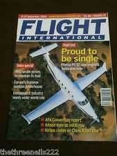 FLIGHT INTERNATIONAL # 4952 - PILATUS PC-12 TEST - SEPT 21 2004