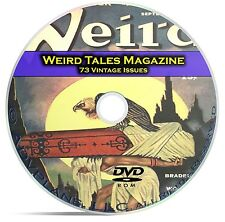 Weird Tales, 73 Classic Pulp Magazine, Golden Age Science Fiction DVD C66