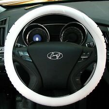 MASADA Premium Silicone Car Steering Wheel Cover (White) - One size fits all