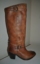 NEW $378+ Frye CARMEN Inside Zip Distressed Brown Saddle Leather Tall Boots Sz 6