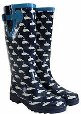 WOMENS LADIES WELLIES EXTRA WIDE 43 CM MAX CALF RAIN WELLINGTON WATERPROOF BOOTS