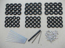 72 DINKY CORGI TYRES - Axles Rivets Drill Bits ~ Restorers Pack Treaded & Smooth