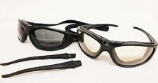 Nuevo Lente reactivo claro-oscuro brazo/Correa opción Motocicleta Gafas de sol acolchadas