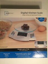 New Mainstays Digital Kitchen Scale Weighs Up to 11 lbs.