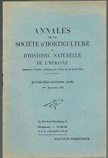 SOCIÉTÉ D'HORTICULTURE de l'Hérault Coléoptères par SCHAEFER et De PUYSÉGUR 1955