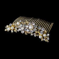 Bridal Swarovski Gold Hair Comb #8280
