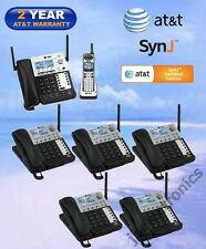 AT&T SynJ® SB67138 DECT 6.0 4-LINE CORDED PHONE - 1 CORDLESS + 5 DESKSETS