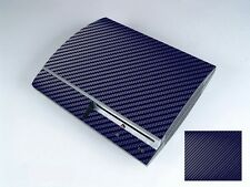 Blue Carbon Fiber Vinly Skin Sticker Cover Protector for Sony PS3 PlayStation 3