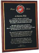 The Devoted Wife Plaque - USMC, USAF, USCG, Army or Navy Military emblem