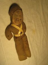 "VINTAGE WWI OR WWII TOY DOLL SOLDIER 13 1/2"" TALL CLOTH DOLL ""LOOK"""