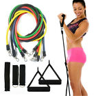 Exercise Resistance Bands Yoga Fitness Workout Stretch Heavy Duty Tubes 11PC Set