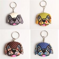 Vintage Style Floral Pug Key ring Quirky Gift for Dog Lovers
