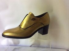 Reed Krakoff Oxford Distressed Gold Laceless Pumps Size 37 7