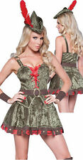 NEW! SHERWOOD SWEETIE M Sexy InCharacter Gold Key Robin Hood Archer Costume