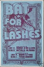 BAT FOR LASHES 2013 PORTLAND CONCERT TOUR POSTER - Indie/Dream/Baroque Pop Music