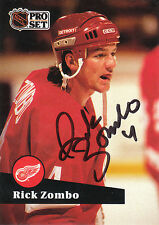 RICK ZOMBO RED WINGS AUTOGRAPH AUTO 91-92 PRO SET #64 *25887
