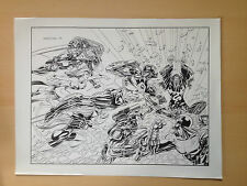 Ironman & Force Works Collectors Preview Cover Production Art STAT Marvel Comics
