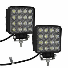 2X 48W Flood LED Off road Work Light Lamp 12V 24V Cars boat Truck Driving UTE