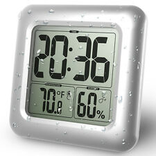 Baldr Wall Clock Waterproof Shower Bathroom Digital Clocks Table Hygrometer