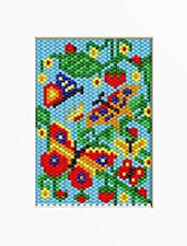 BUTTERFLIES IN THE STRAWBERRIES  PONY BEAD BANNER PATTERN